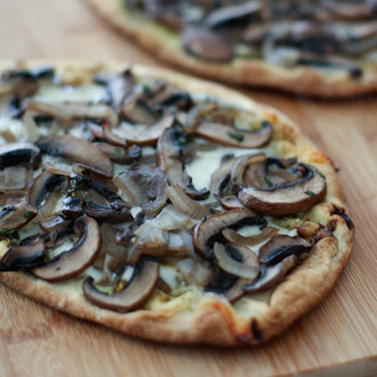 Grilled Baby Portobello Flatbread