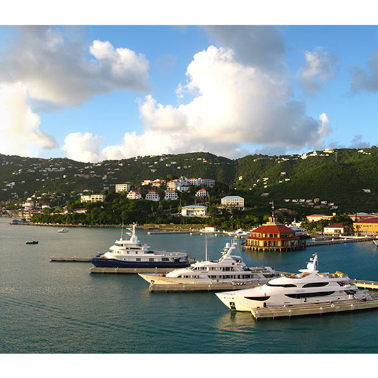 Instead of the British Virgin Islands, go to U.S. Virgin Island, St. Thomas