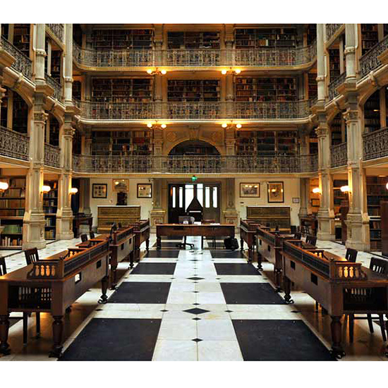 The George Peabody Library, Maryland