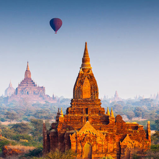 Go Hot-Air Ballooning in Myanmar