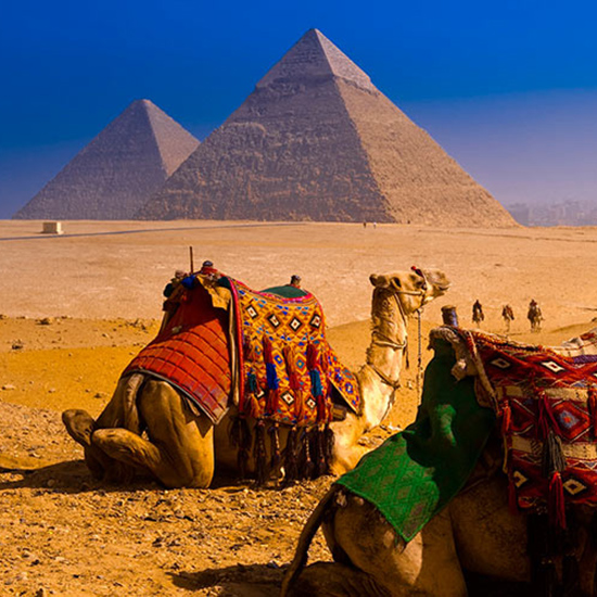 Marvel at the Egyptian Pyramids