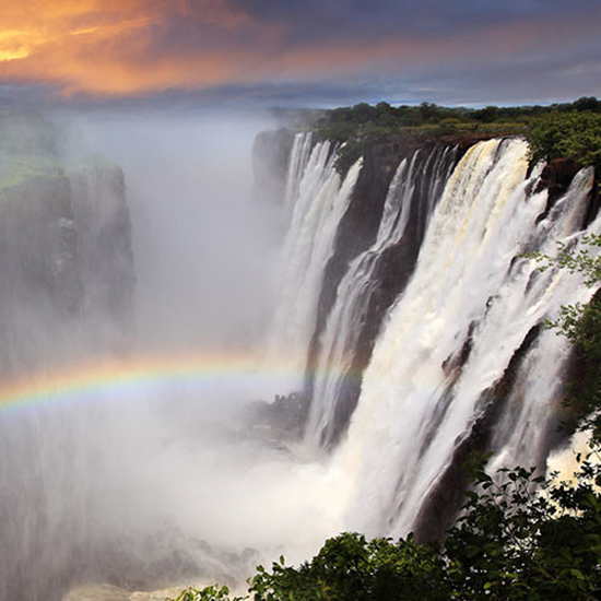 Catch a Rainbow at Victoria Falls in Zambia