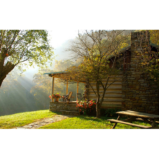 7 gorgeous log cabins to escape to food wine for Cabin rentals near lexington va