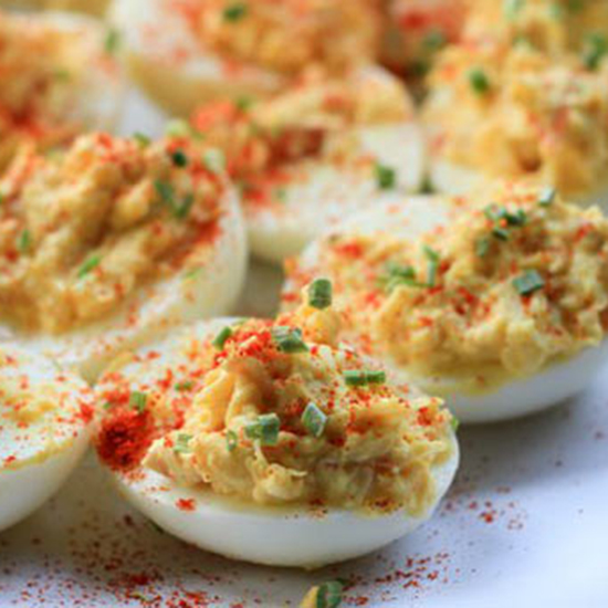 Lobster Deviled Eggs With Champagne Vinegar