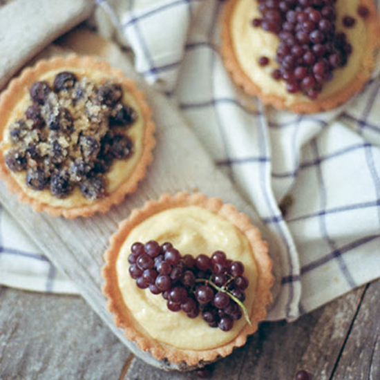 Champagne Grape Tarts