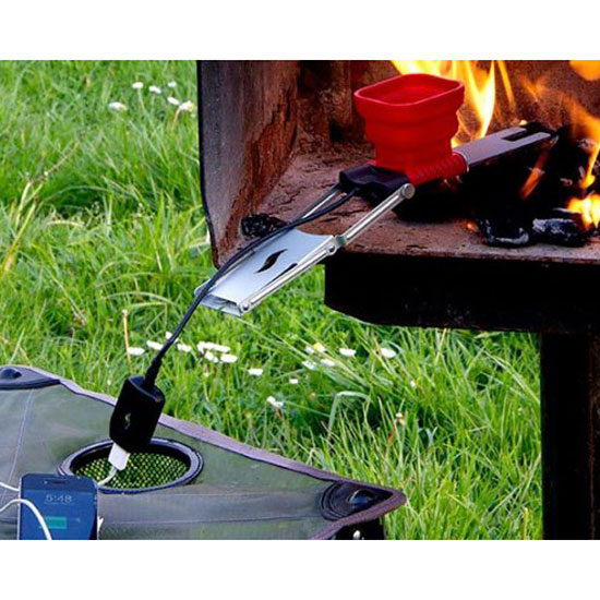 Charge Your Phone With Your Campfire