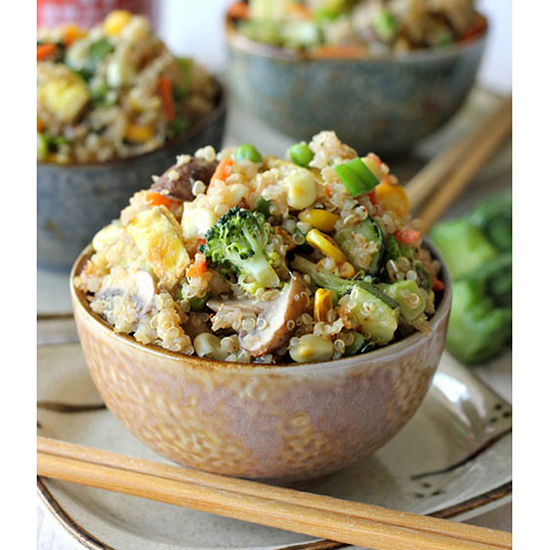 Quinoa Fried Rice With Veggies
