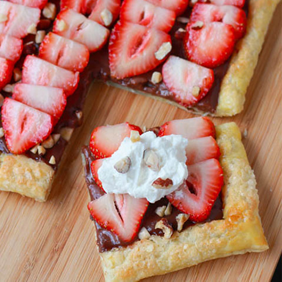 Nutella Strawberry Tarts