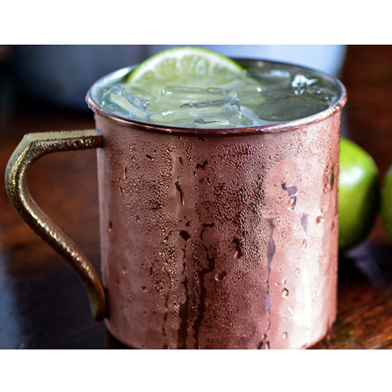 Instead of a vodka soda, try a Moscow Mule