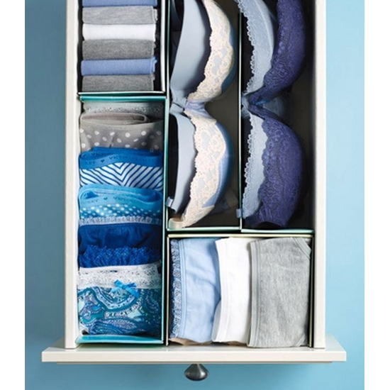 Organize drawers with shoebox lids
