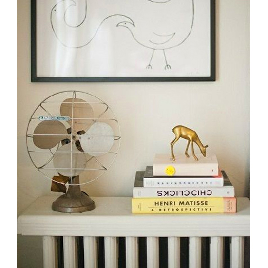 Stack books on your out-of-commission radiator