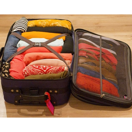 Use suitcases for out-of-season clothing