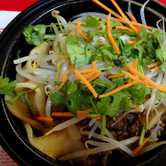 Lamb Cumin Hand-Pulled Noodles at Gene's Chinese Flatbread Cafe