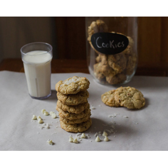 Toasted Coconut & White Chocolate Chip Cookies