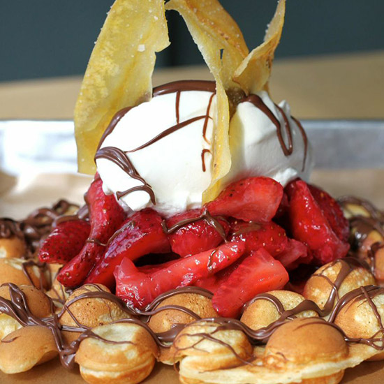 Hong Kong Meets Jamaica Meets Canada All in One Waffle