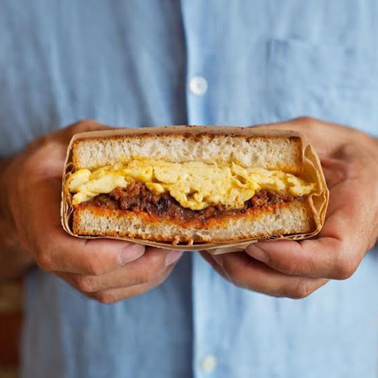 FWX SANDWICH STALKER CHORIZO AND EGG SANDWICH