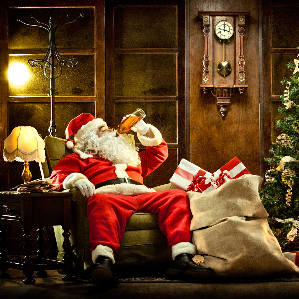 Image result for santa drinking beer