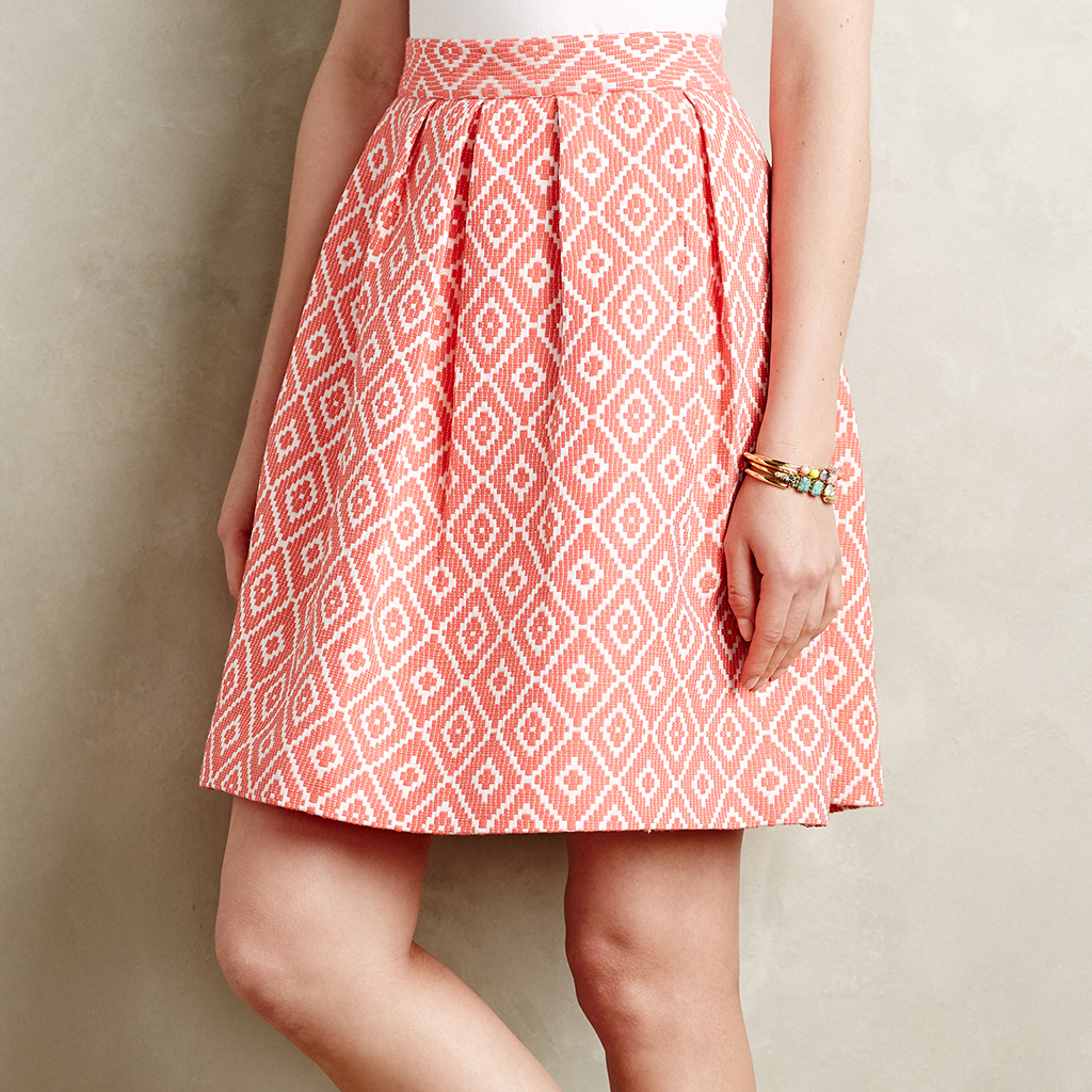 Pleated Ikat Skirt by Hutch