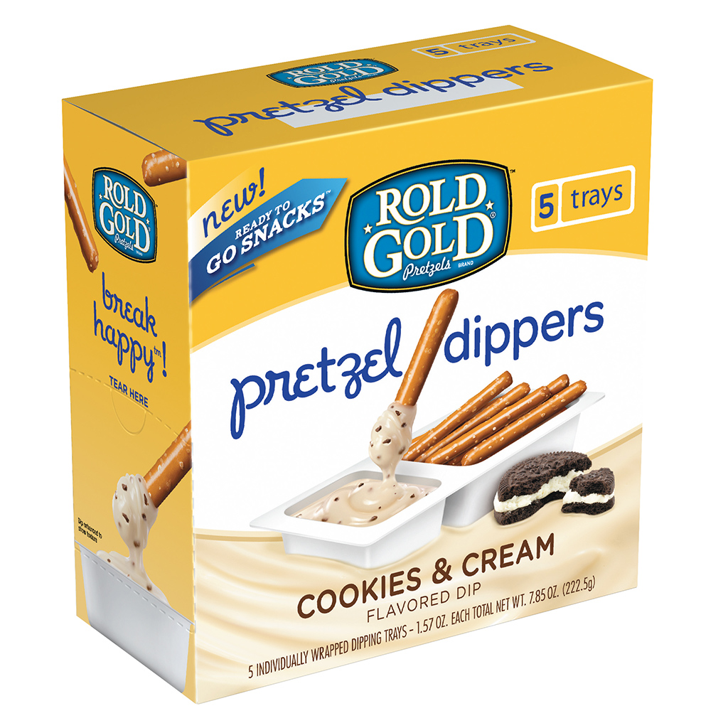 Rold Gold Cookies & Cream and Fudge Brownie Pretzel Dippers