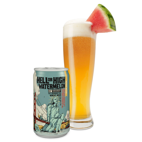 FWX SPIRIT REVIEWS 10 BEST SUMMER BEERS 21ST AMMENDMENT HELL OR HIGH WATERMELON
