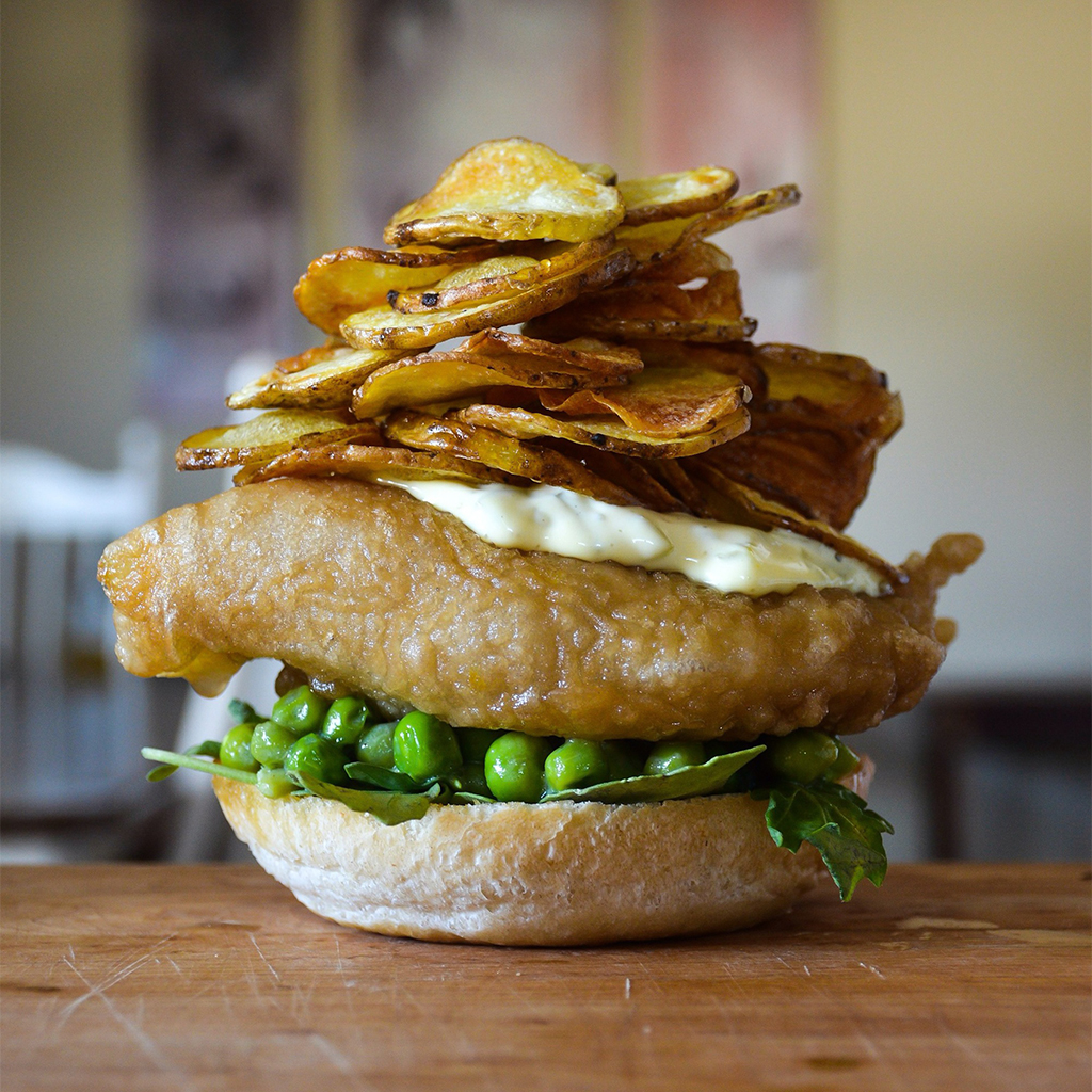 FWX STACKED BEER BATTERED FISH CHIPS
