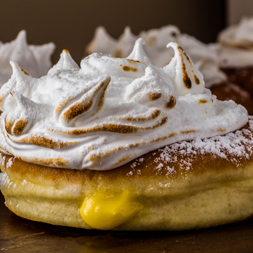 FWX STACKED LEMON MERINGUE DOUGHNUTS