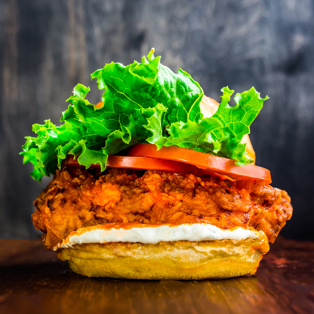 Spicy Buffalo Ranch Chicken Burgers