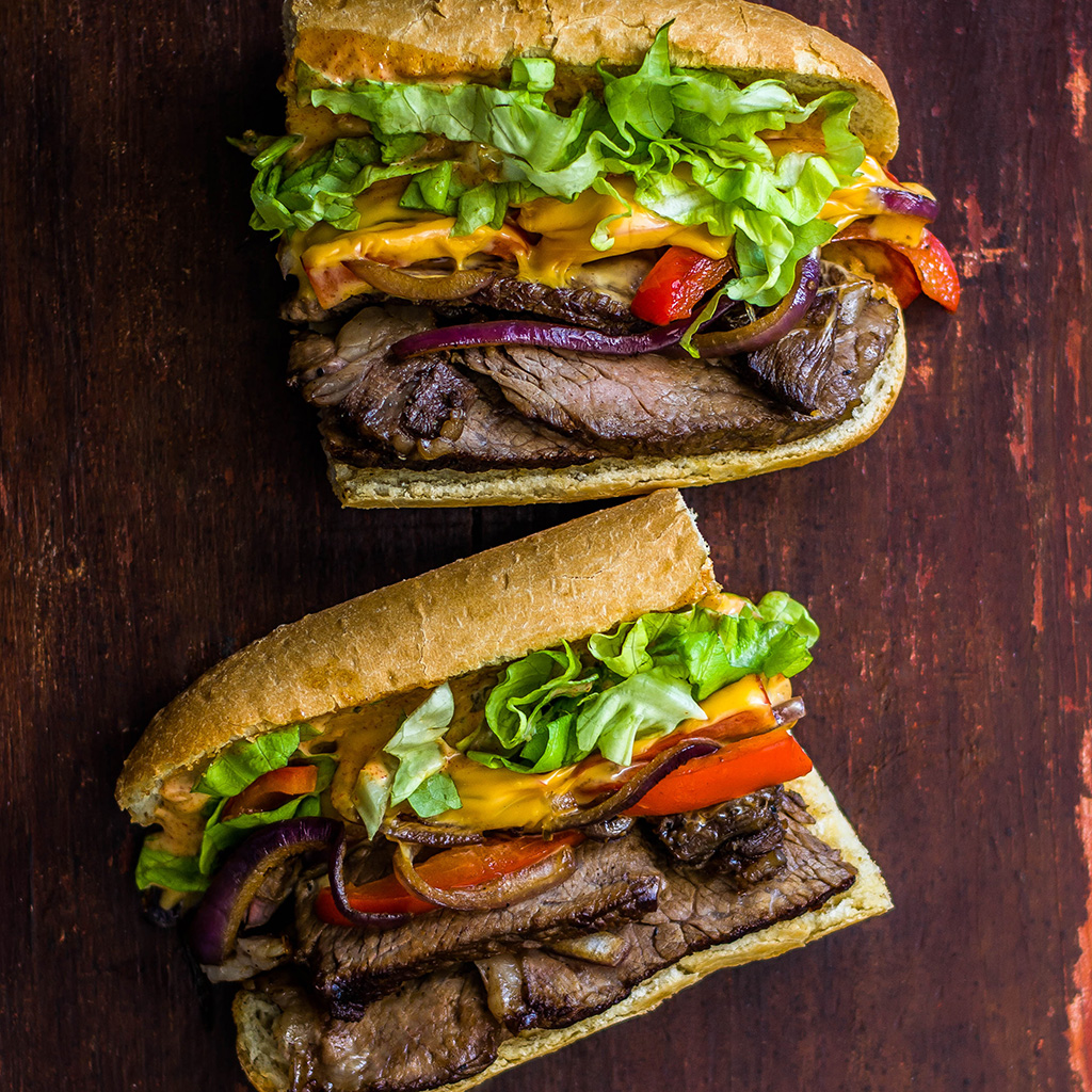 Steak Sandwich with Spicy Herbed Mayo