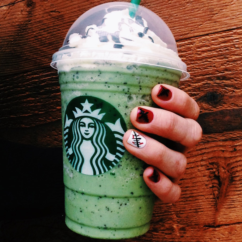 FWX STARBUCKS FRANKEN FRAP WITH HAND