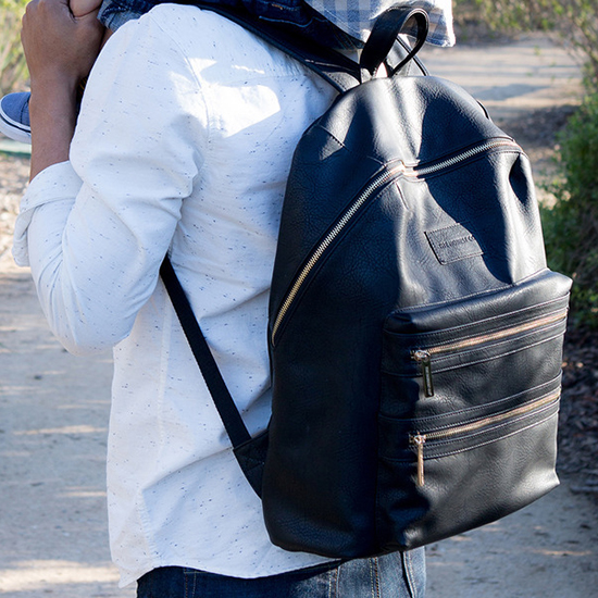 Faux Leather City Backpack
