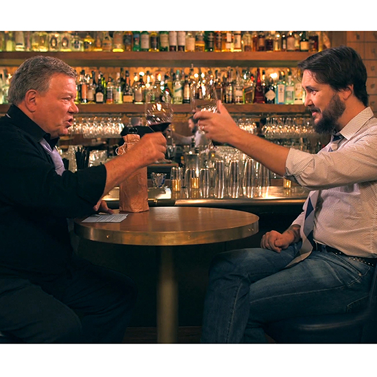 FWX WILLIAM SHATNER WIL WHEATON WINE TASTING