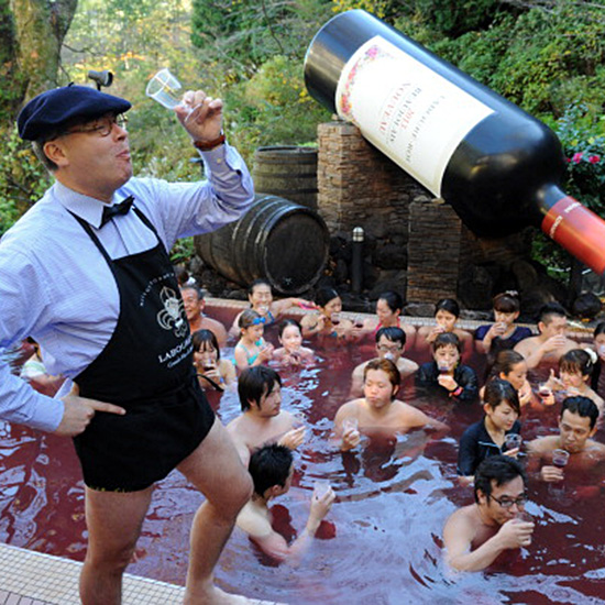 The Japanese Love Beaujolais Nouveau So Much They Bathe in It
