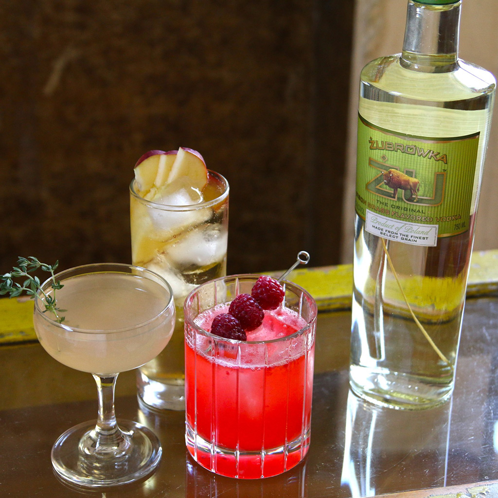 3 cocktails to make with bison grass vodka food wine for Flavored vodka mixed drinks