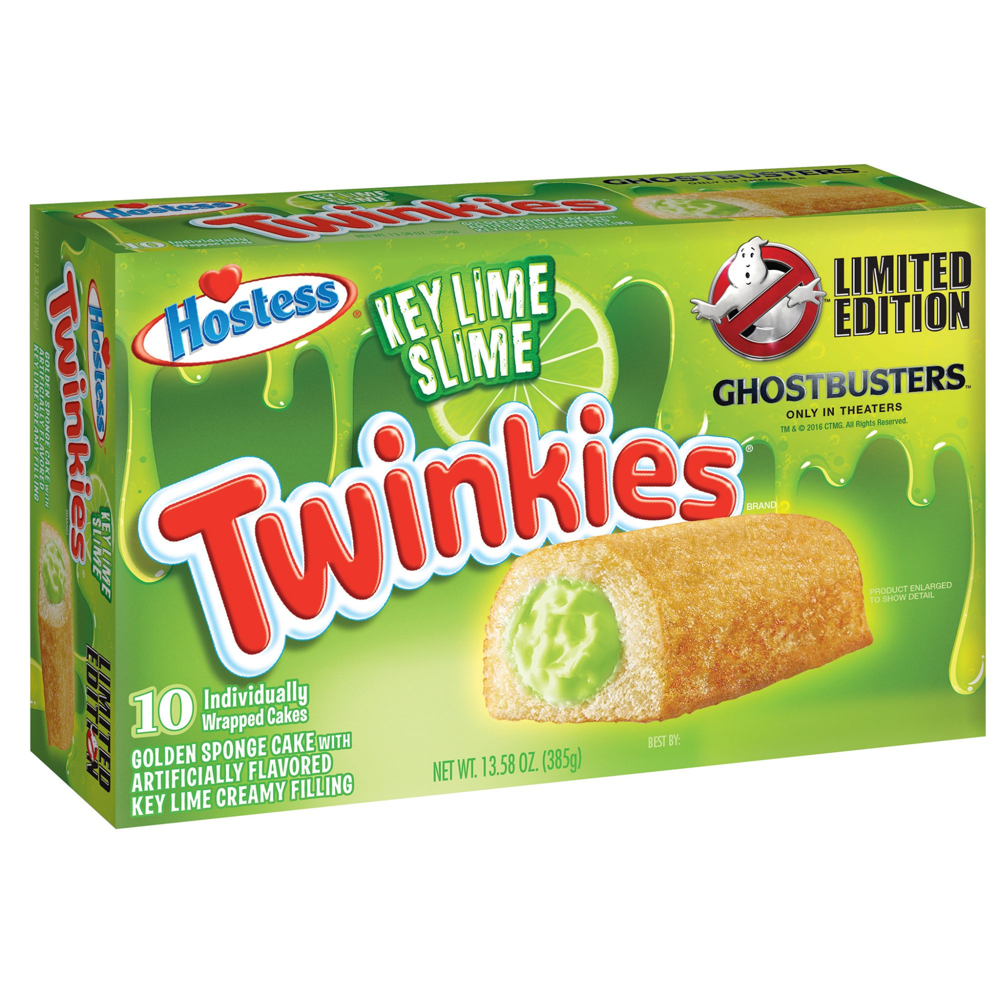 Twinkies Get Green Slime Filling for Ghostbusters