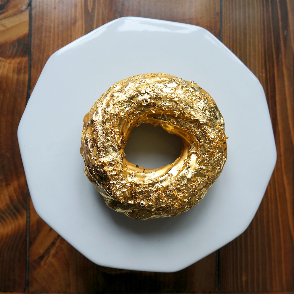 This 24 Karat Gold And Cristal Doughnut Will Set You Back