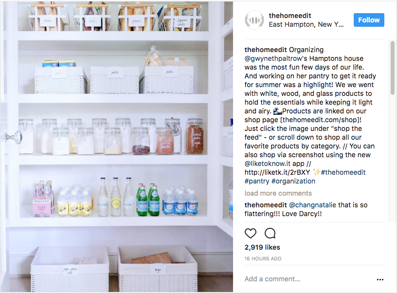 Gwyneth Paltrow's pantry