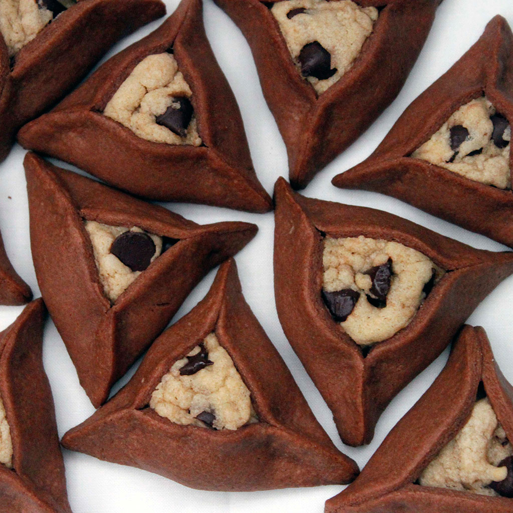 Chocolate Chip Cookie Stuffed Hamantaschen