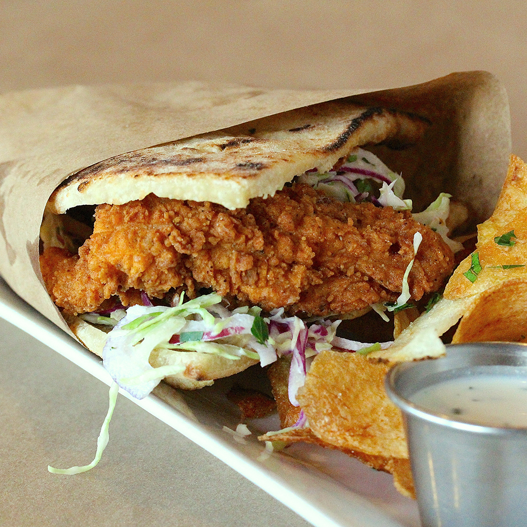 HANGOVER CURES PIZZA ROMANA FRIED CHICKEN PANINO FWX