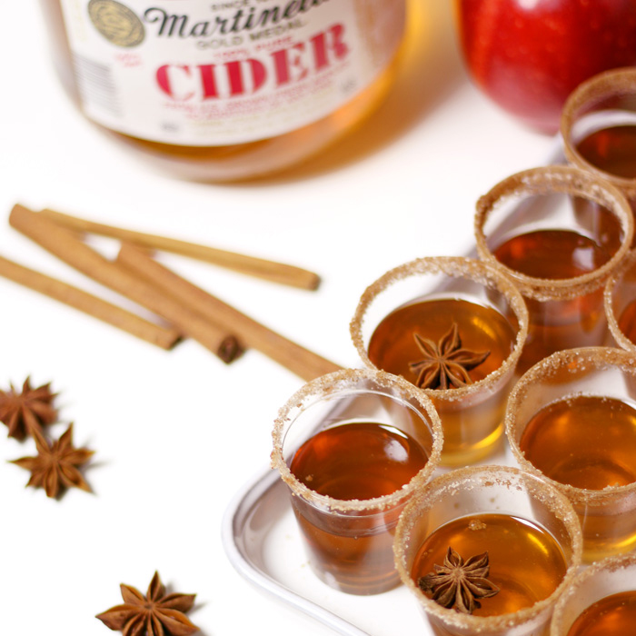 Gourmet Apple Cider Bourbon Jell-O Shot