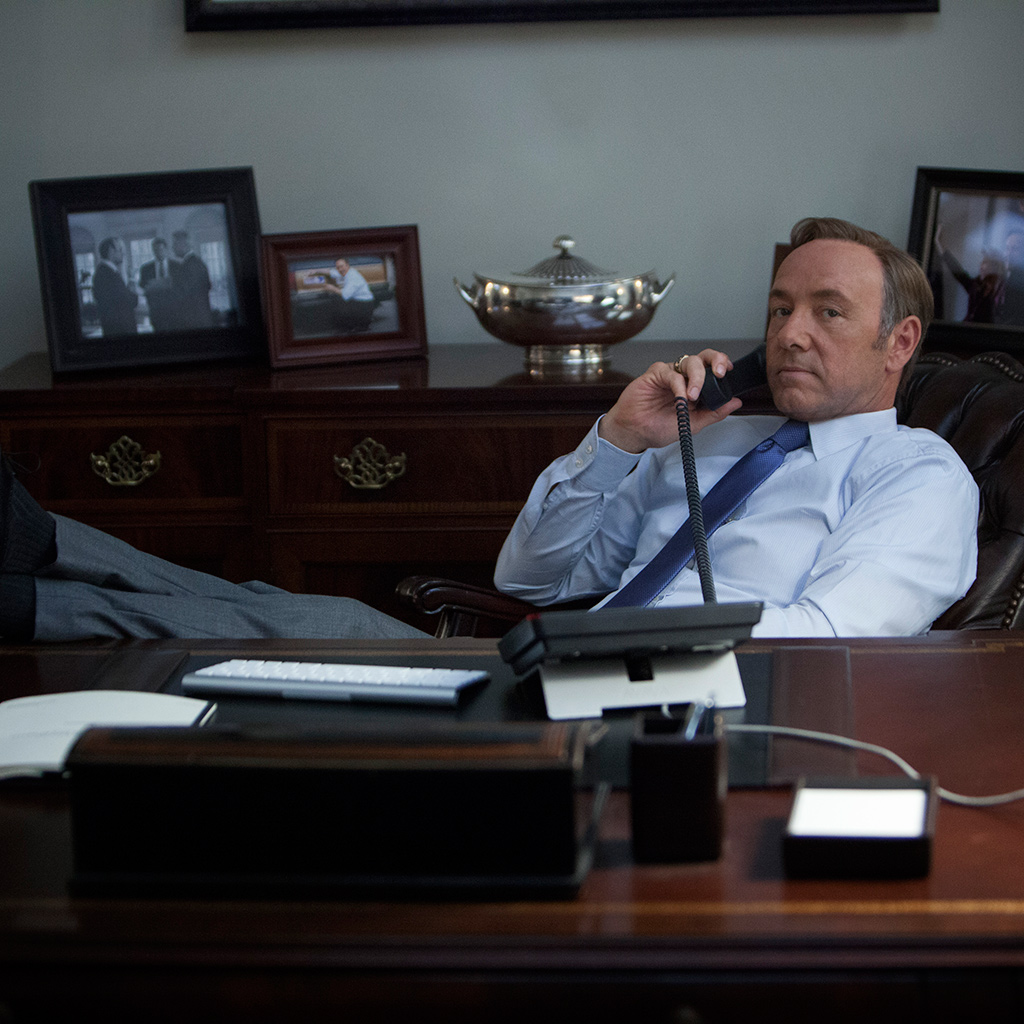 "Kevin Spacey plays Francis J. ""Frank"" Underwood."