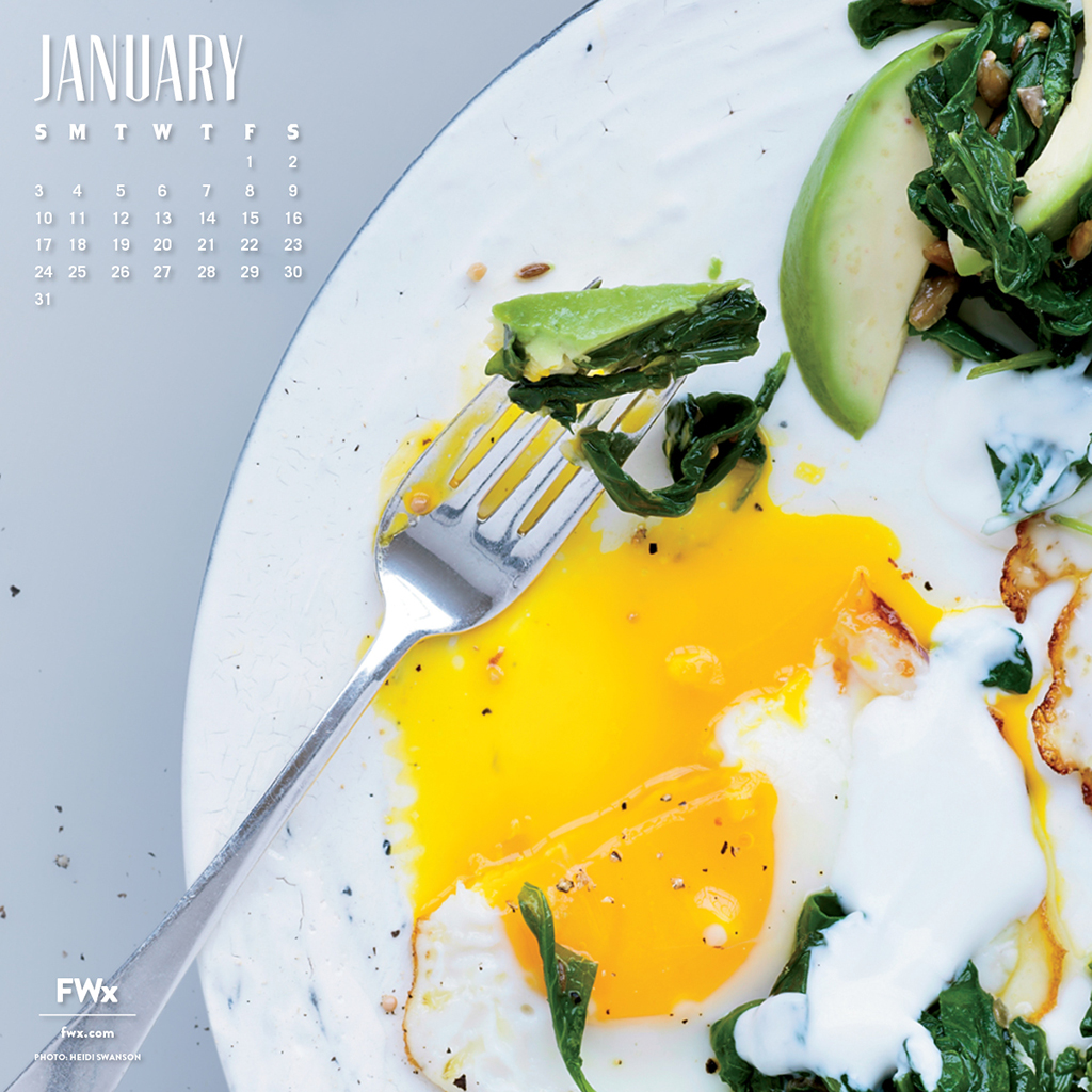 A New Year Means More Opportunities to Eat Eggs: Download FWx's January Wallpaper
