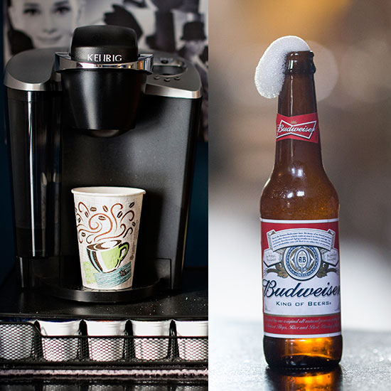 budweiser and keurig