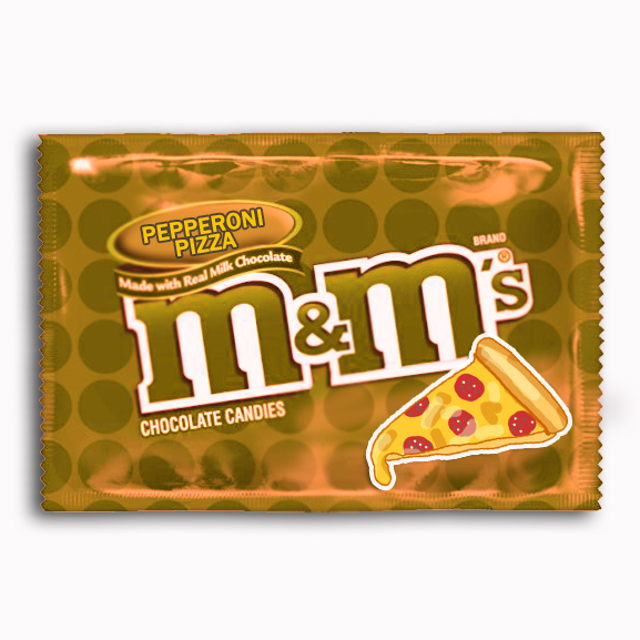 Pepperoni Pizza M&M's