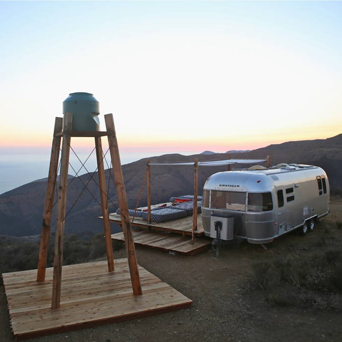 Airbnb, outdoor, rental, airstream