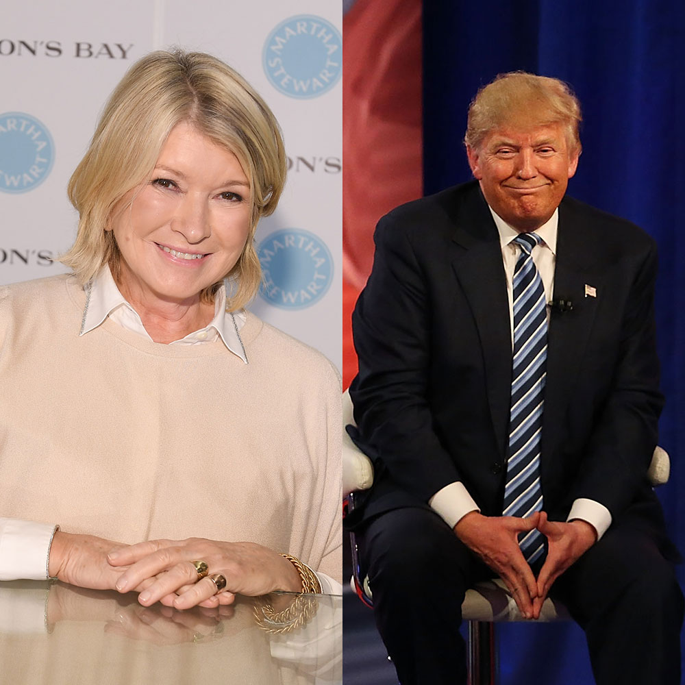 Martha Stewart and Donald Trump
