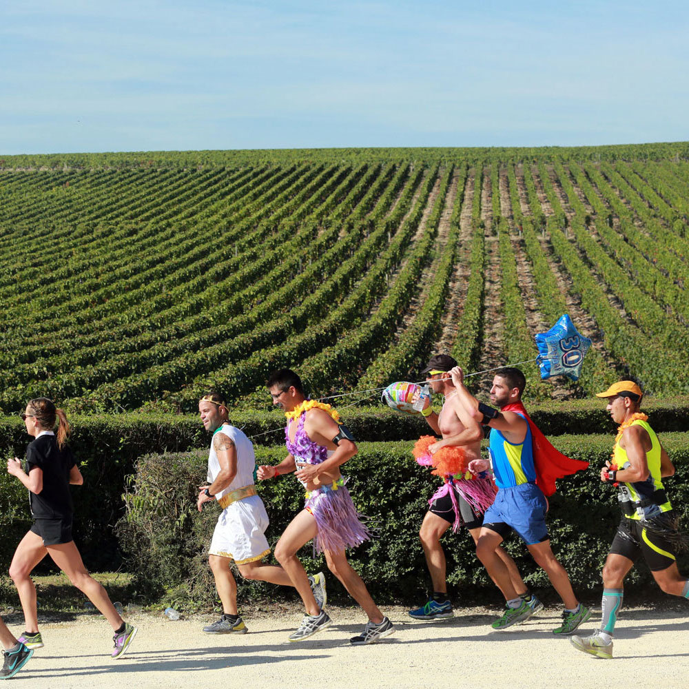 French Wine Marathon Tests Competitors Strength of Stomach