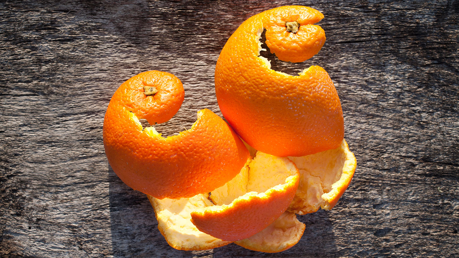 orange peels clean waste waters