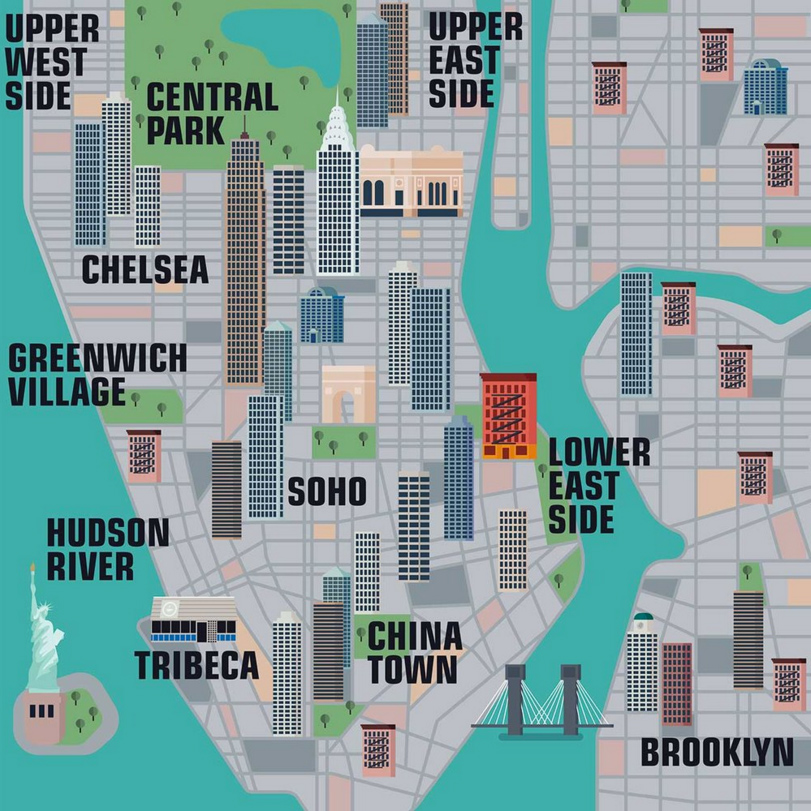New Interactive Map Lets You Explore Thousands Of New York City - Ny city map