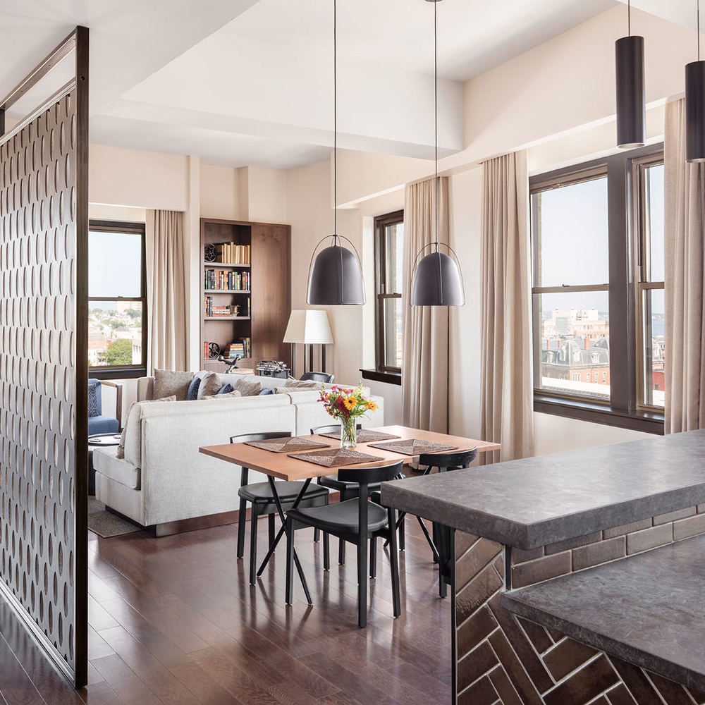 The Penthouse Suite, The Press Hotel In Portland, Maine