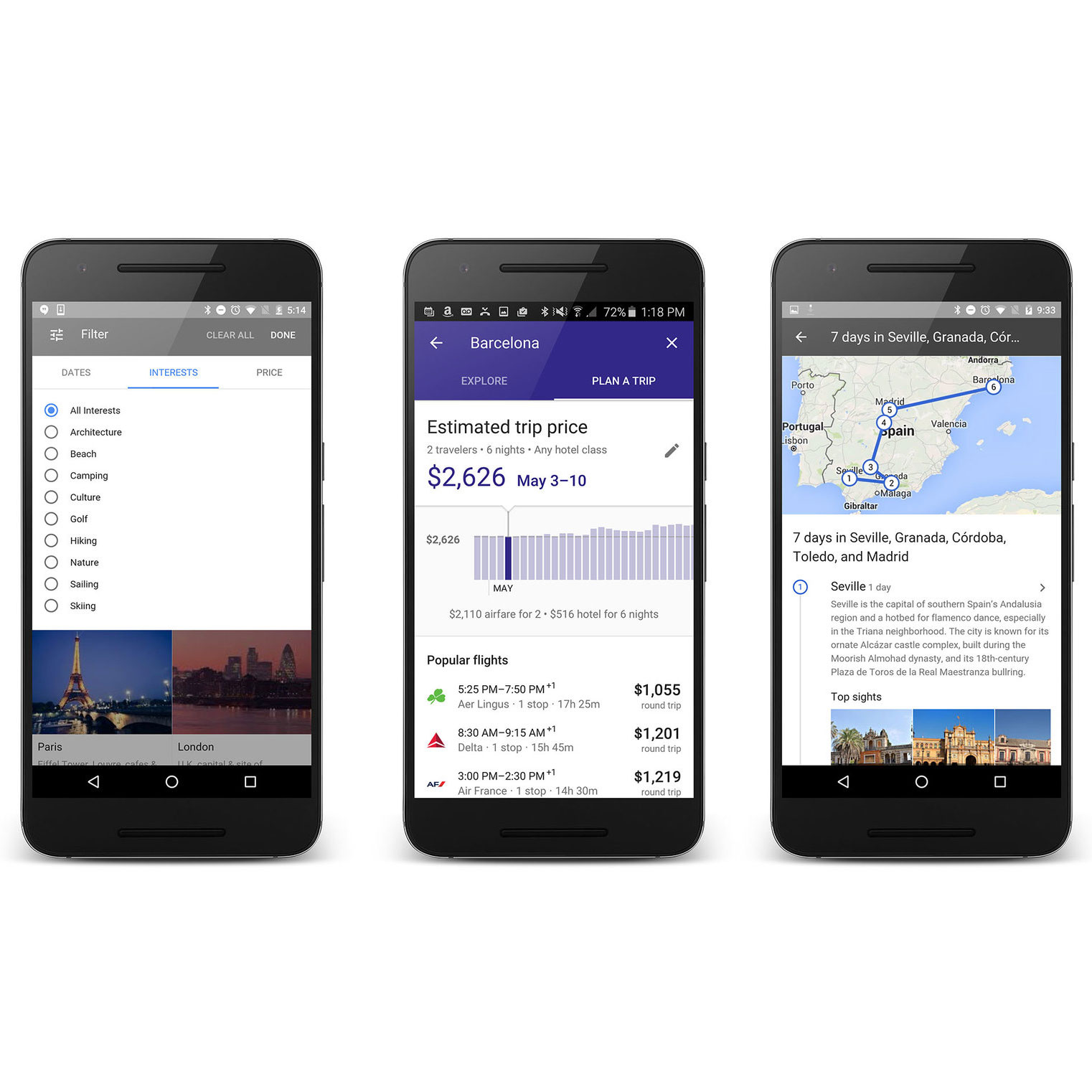 PARTNER TL PLAN A TRIP GOOGLE FWX